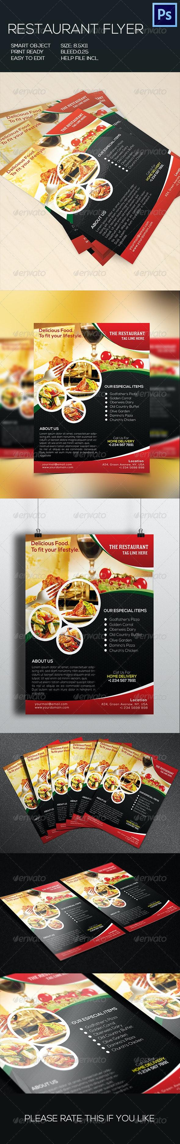 Retaurant Food Flyer - Restaurant Flyers