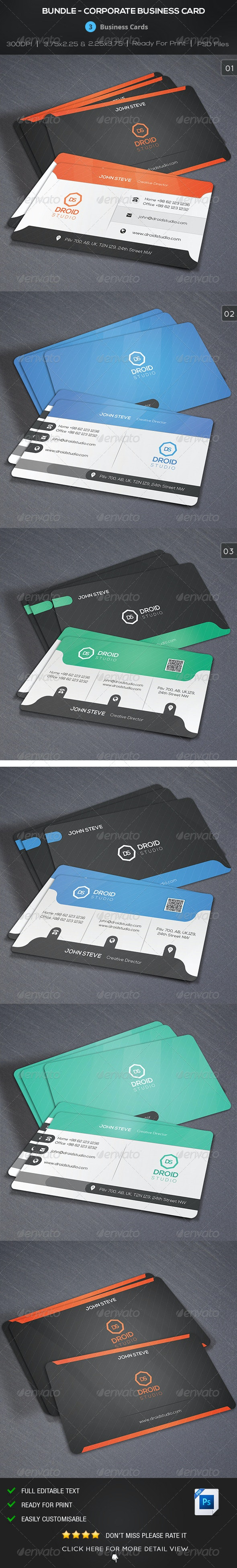 Bundle - Corporate Creative Business Card - Corporate Business Cards