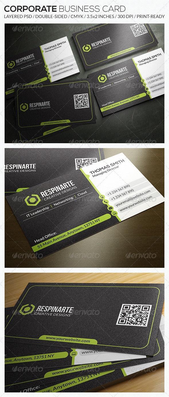 Corporate Business Card - RA54 - Corporate Business Cards