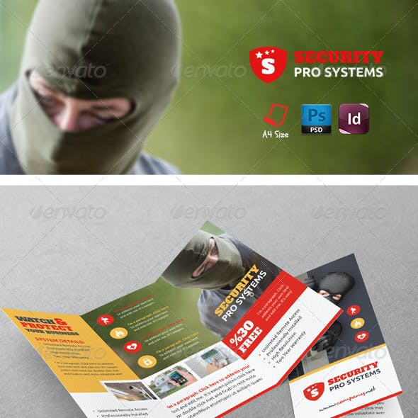 Security Systems Tri-Fold Templates
