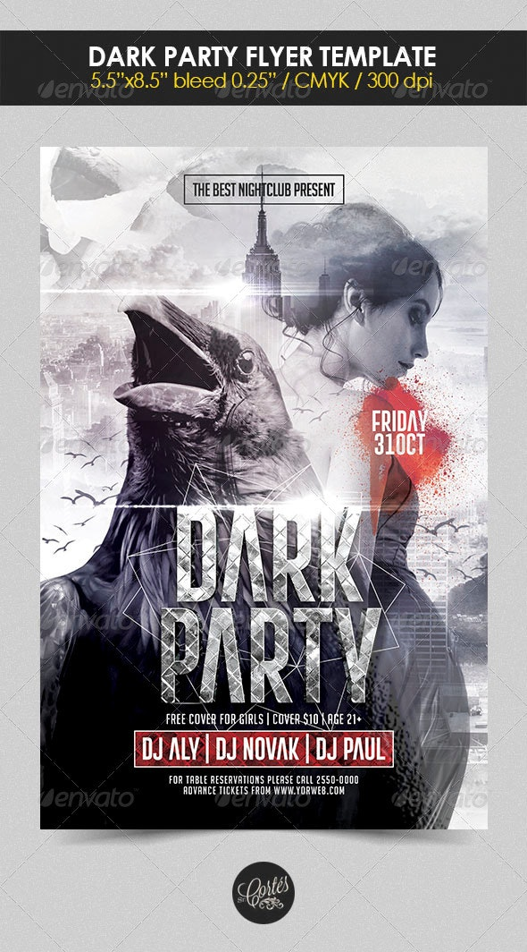 Dark Party Flyer Template - Holidays Events