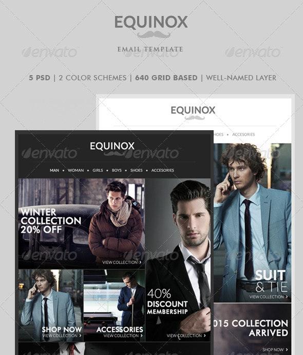 Equinox - Newsletter Template - E-newsletters Web Elements