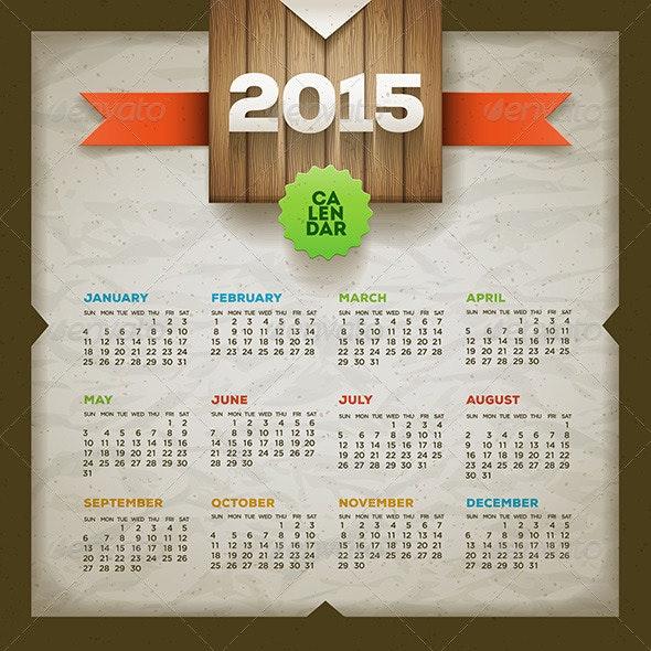 Calendar 2015 - New Year Seasons/Holidays