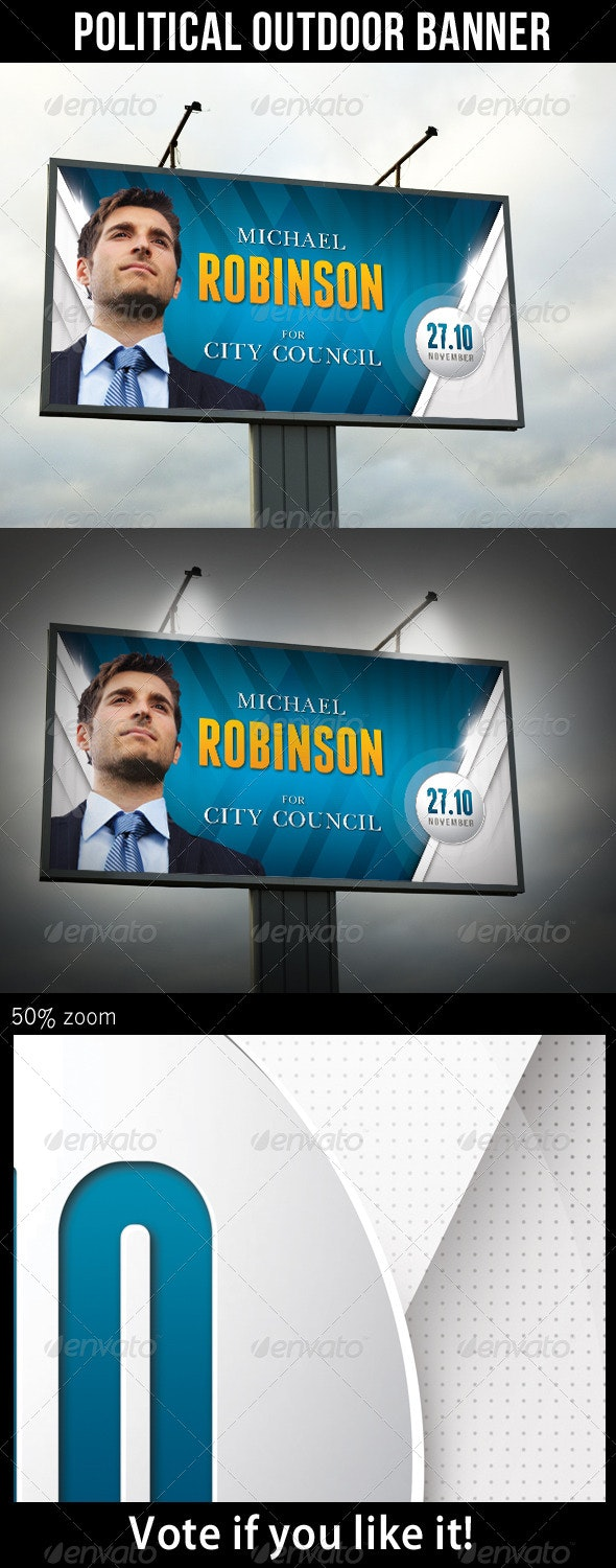Political Outdoor Banner - Signage Print Templates
