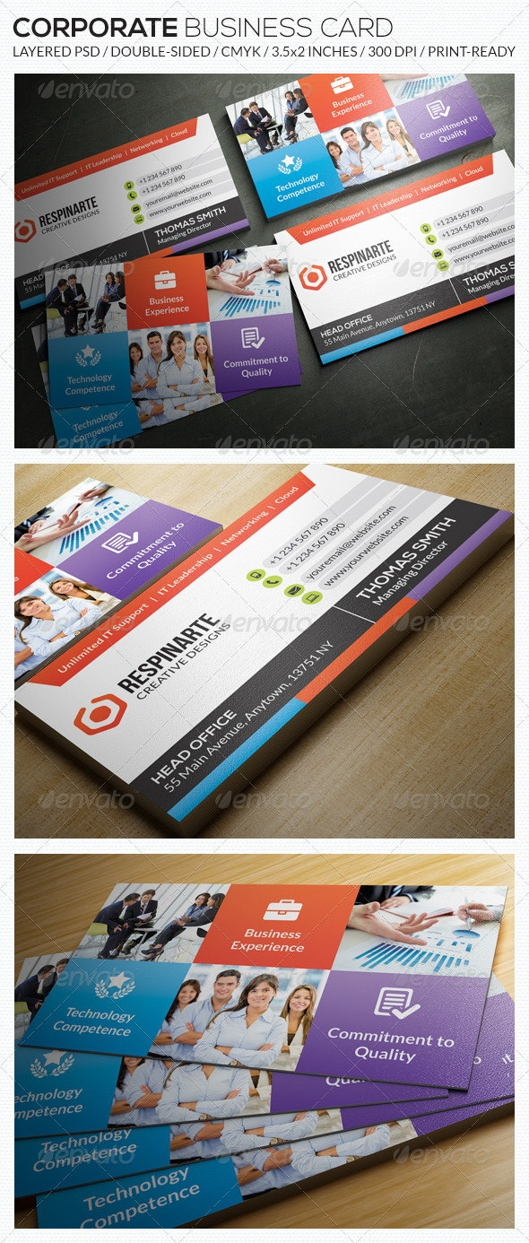 Corporate Business Card - RA55 - Corporate Business Cards