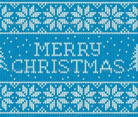Merry Christmas Knitted Pattern - Christmas Seasons/Holidays