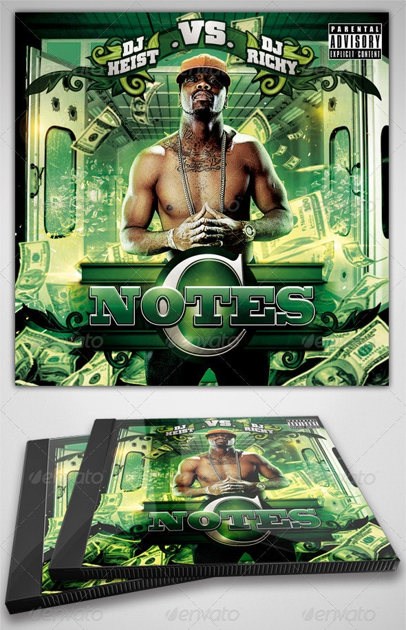 C-Notes Mixtape / Flyer or CD Template  - CD & DVD Artwork Print Templates