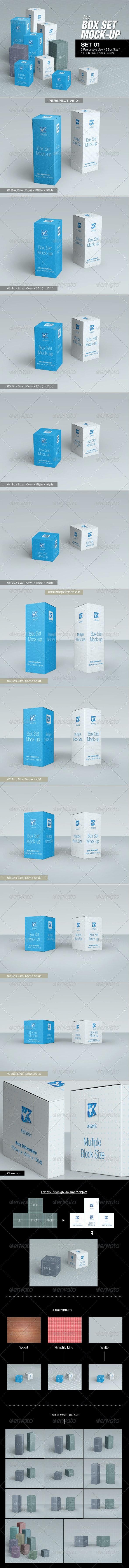 MyBox Set Mock-up 01 - Packaging Product Mock-Ups