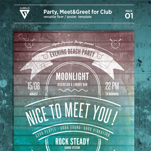 Club Meet&Greet Party Flyer/Poster Pack .01