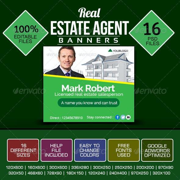 Banner Design Set for Real Estate Agents