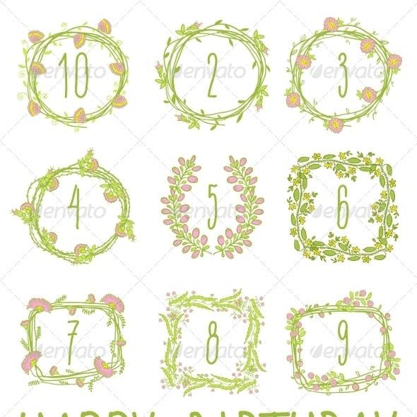 Happy Birthday Card Invitation with Set