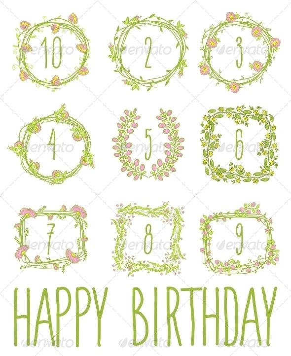 Happy Birthday Card Invitation with Set  - Birthdays Seasons/Holidays