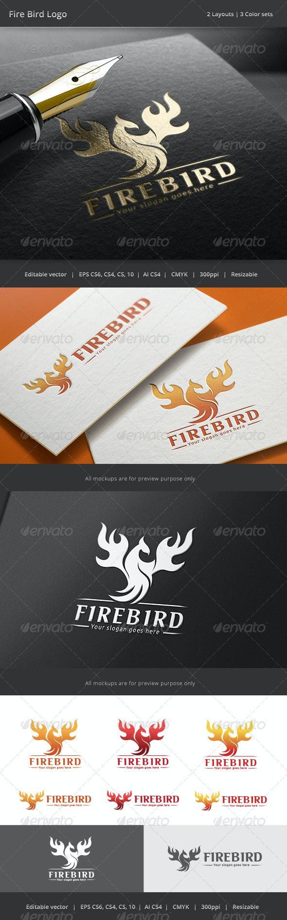 Fire Bird Logo v1 - Animals Logo Templates