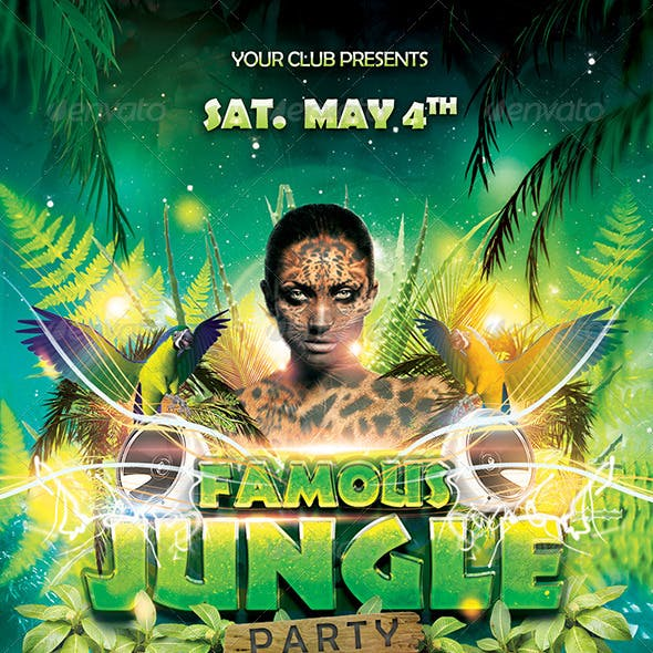 Famous Jungle Party Flyer