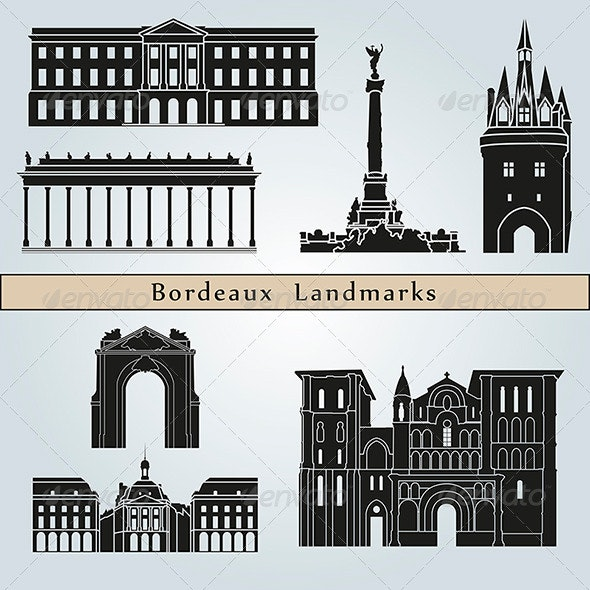 Bordeaux Landmarks and Monuments - Buildings Objects