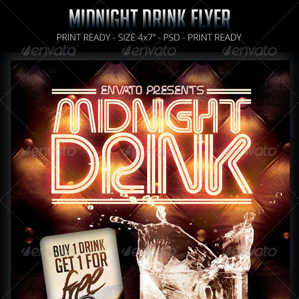 Midnight Drink Flyer