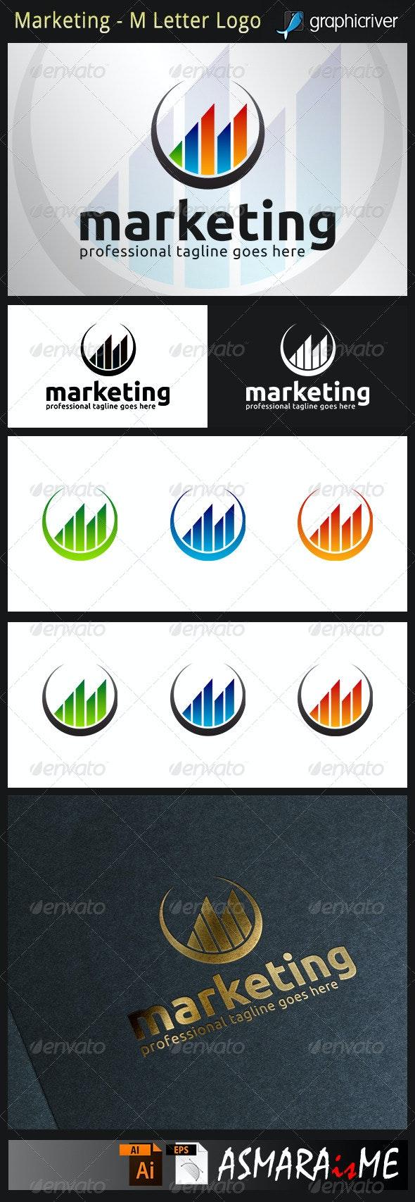 Marketing - M Letter Logo - Letters Logo Templates