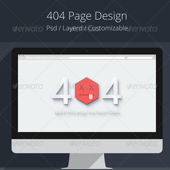 3D 404 Page Design