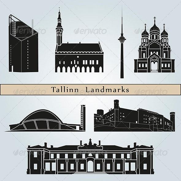 Tallinn Landmarks and Monuments - Buildings Objects
