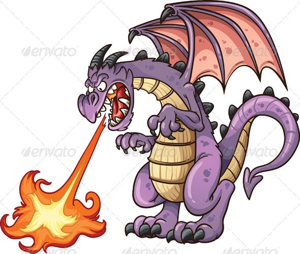 Cartoon Dragon - Monsters Characters
