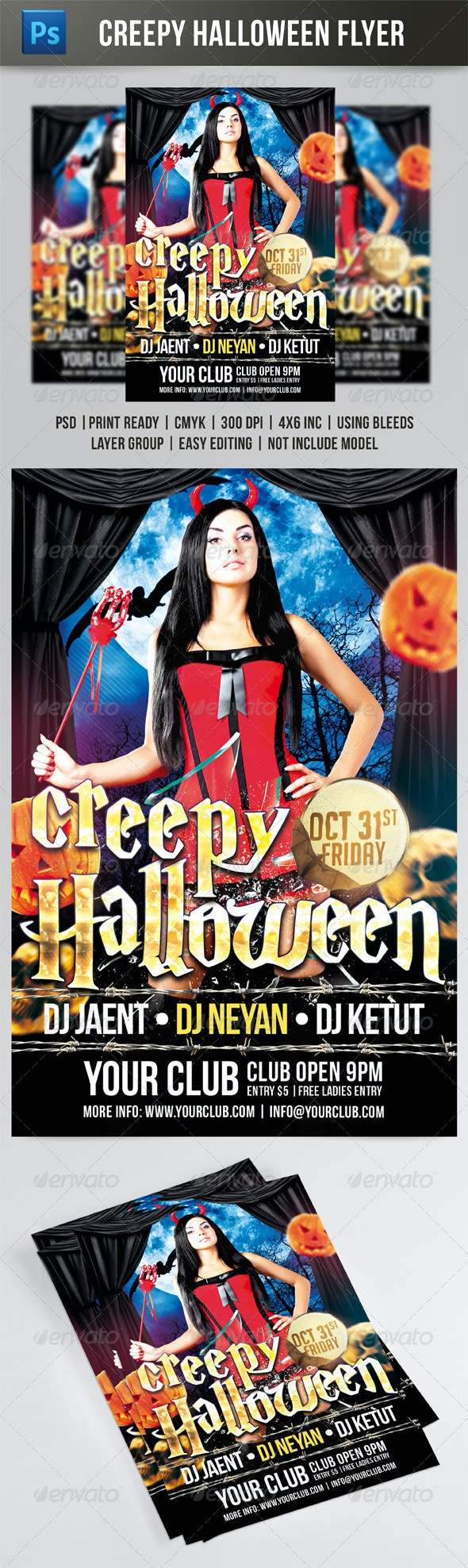 Creepy Halloween Flyer - Events Flyers