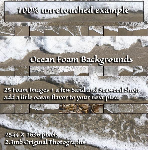 Ocean Foam Stock Photos - Nature Textures