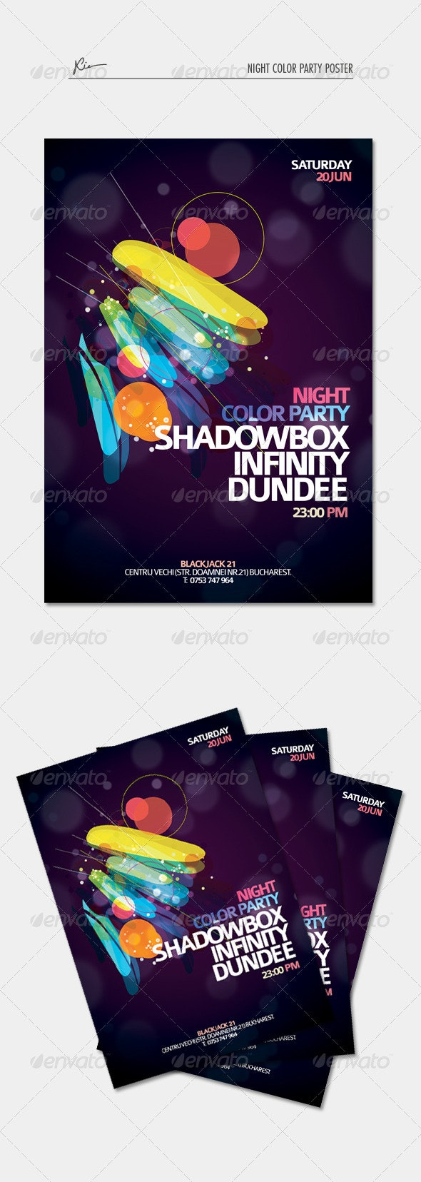 Night Color Party Poster - Clubs & Parties Events