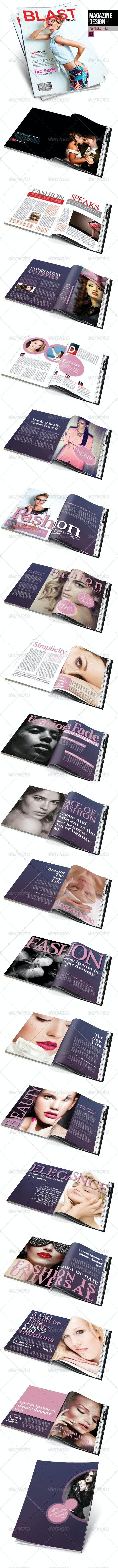 Magazine Design - Magazines Print Templates