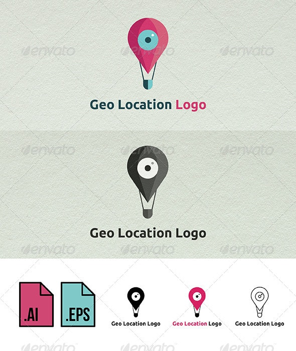 Geo Location Logo Template