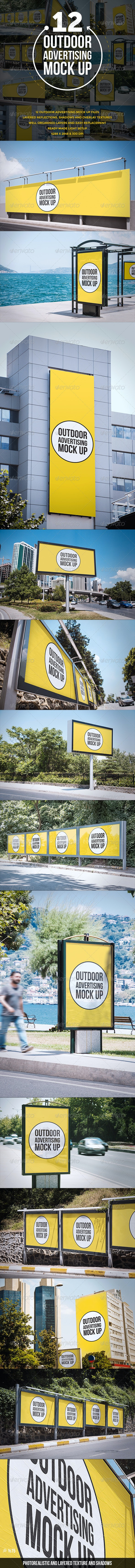 Outdoor Advertising Mock Up - Miscellaneous Print