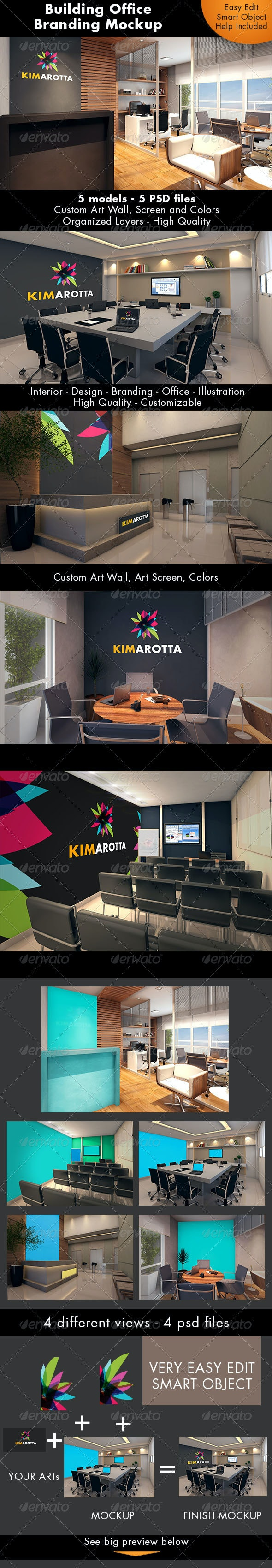 Building Office Branding Mockup - Logo Product Mock-Ups