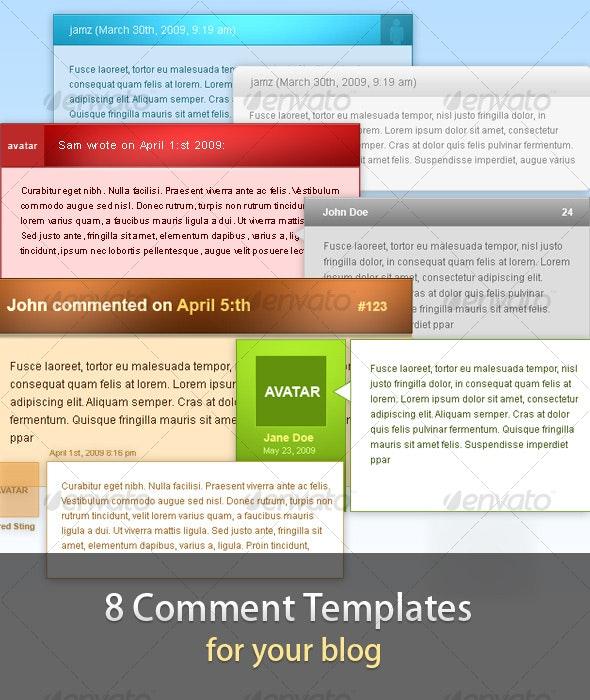 8 Comment Templates for your Blog - Miscellaneous Web Elements
