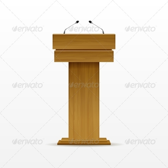 Wood Podium - Miscellaneous Vectors