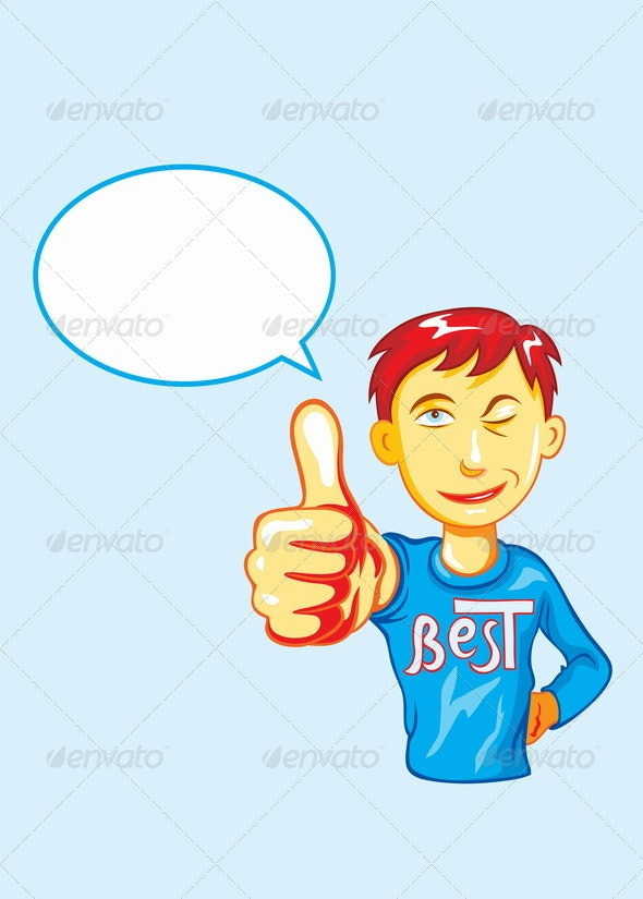 Thumbs Up Boy - People Characters