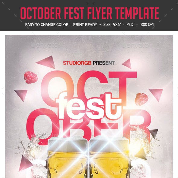 October Fest Flyer Template