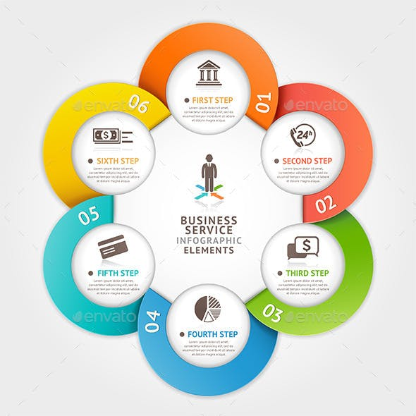 Modern Business Circle Infographic Template.