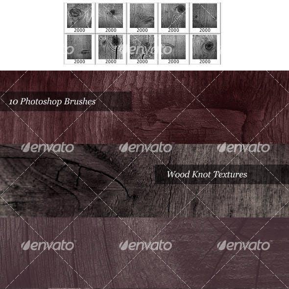 Wood Knot Brush Pack (10 Photoshop Brushes)