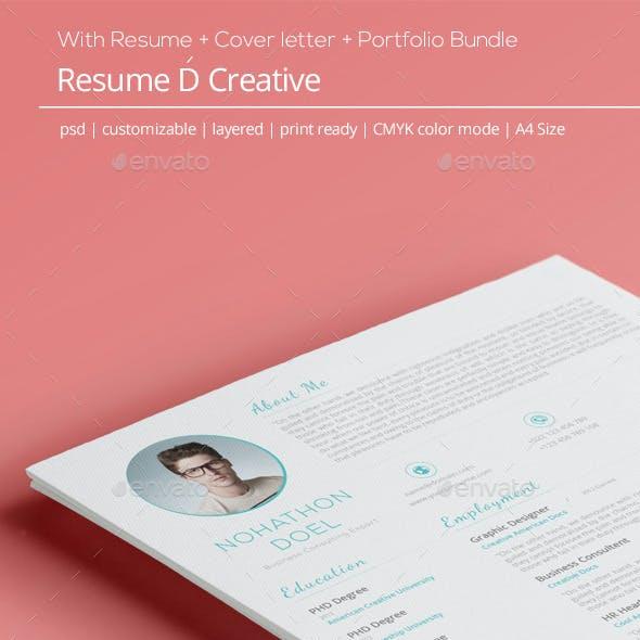 Creative Resume CoverLetter Portfolio