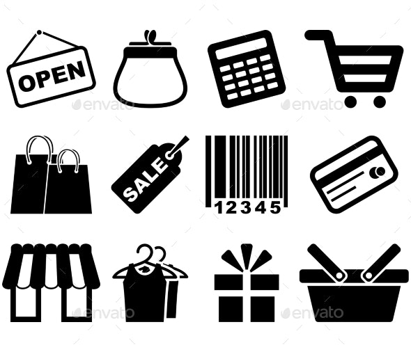 Shopping Icon Set - Services Commercial / Shopping