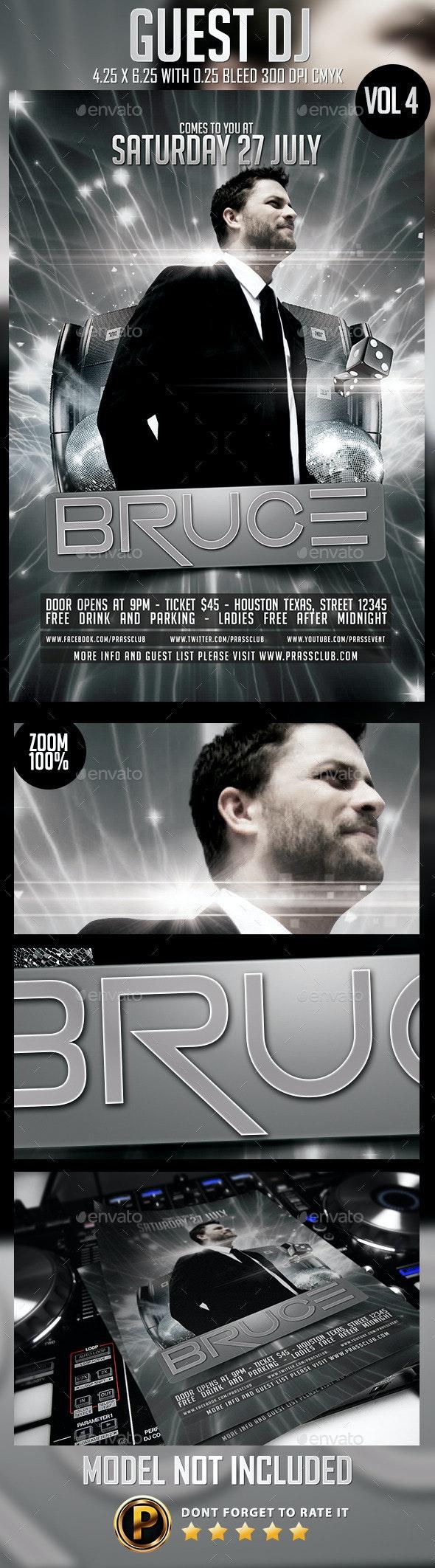 Guest DJ Flyer Template Vol 4 - Clubs & Parties Events