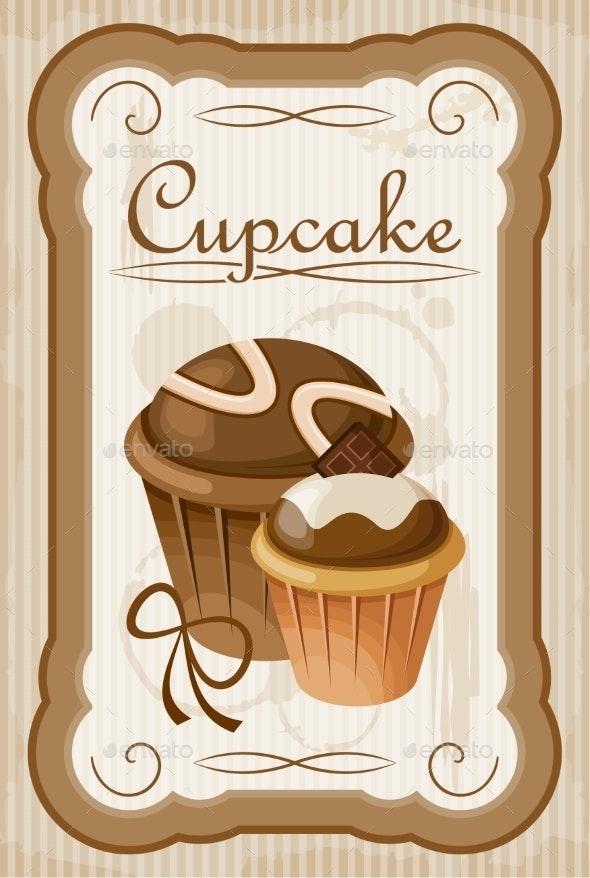 Vintage Cupcake Poster. - Birthdays Seasons/Holidays