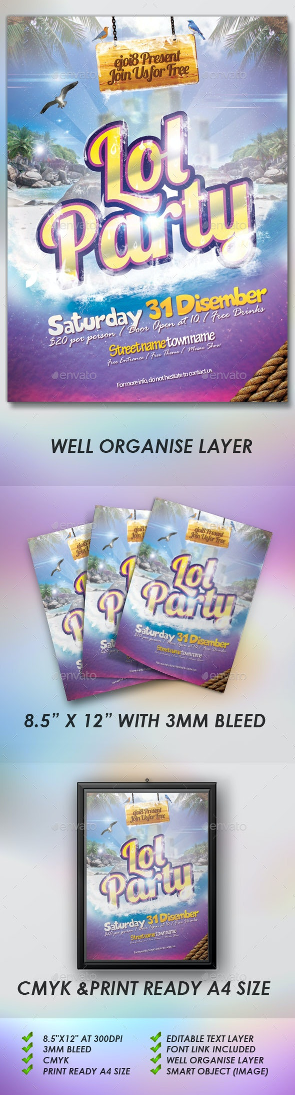 Lol Party Flyers - Events Flyers