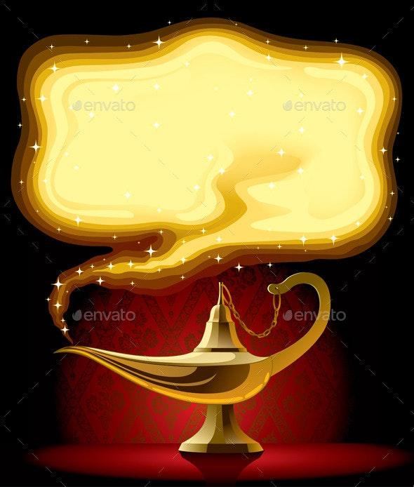 Aladdin's Magic Lamp - Objects Vectors