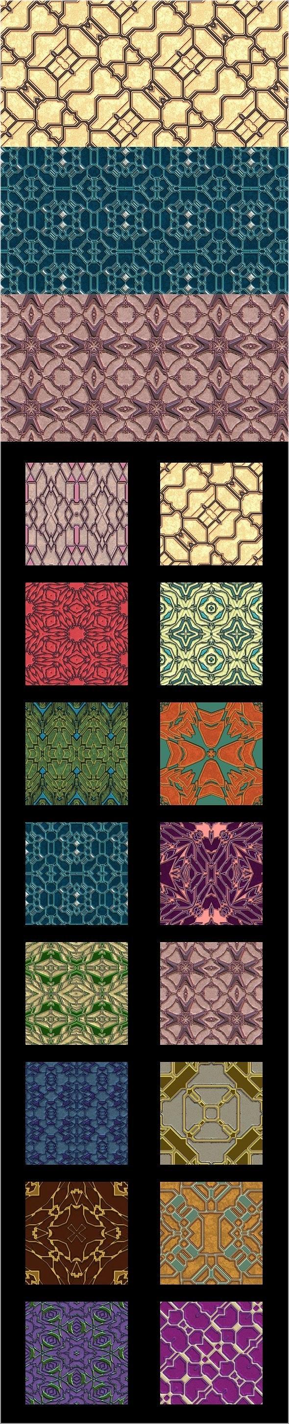 Alien Designer Walls - Pattern Pack - Techno / Futuristic Textures / Fills / Patterns
