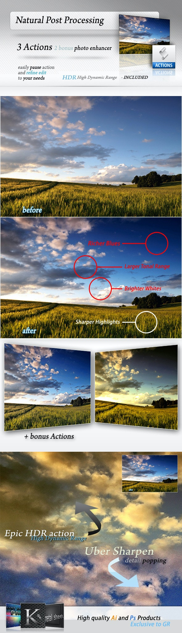 Post Processing Actions - Photo Effects Actions