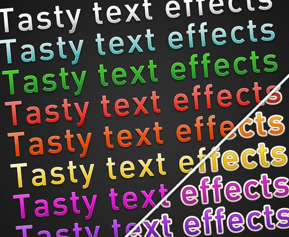 Tasty Text Effects (Dark) - Text Effects Styles