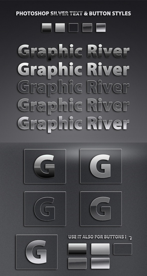 Professional Silver Style Pack #1 - Text Effects Styles