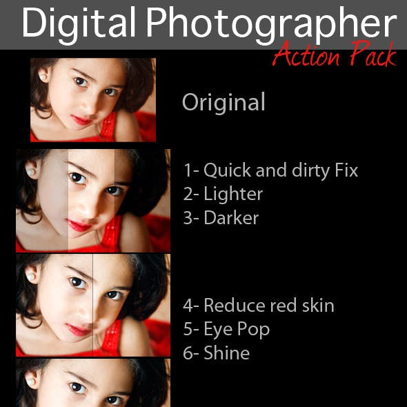 Digital photographer action pack