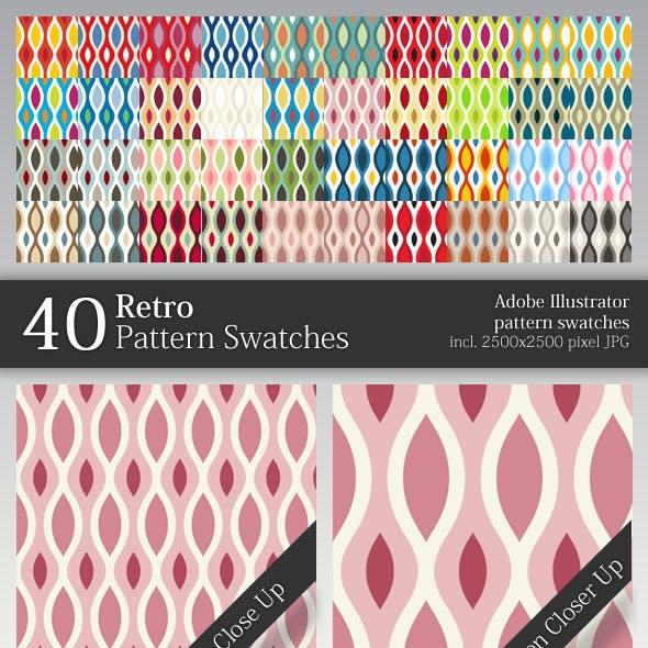 40 Retro Pattern Swatches
