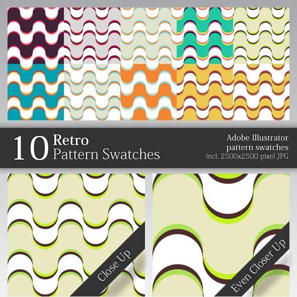 10 Retro Pattern Swatches